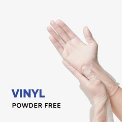Plastic Vinyl Gloves Powder Free PVC Gloves (100PCS)