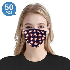 Multicolor Christmas Printed Disposable Face Mask Adult  3-ply(50 PCS - Any 5 colors)