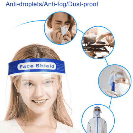 Safety Face Shield Transparent Full Face Breathable Face Shield