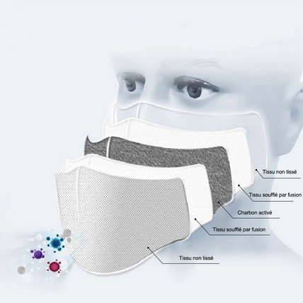 Unisex Cloth Mask 3D Digital Printed with Filter Pocket