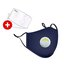 Pure Cotton Respirators with Breathing Valve and 2 Filters (3 PCS)