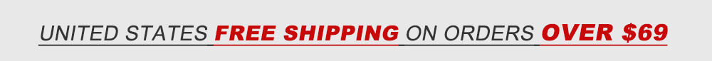 Worldwide free shipping on orders over $90